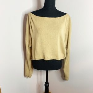 PrettyLittleThing Cropped Beige Knit Sweater